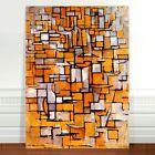 "Piet Modrian Abstract Flowers ~ FINE ART CANVAS PRINT 16x12"""