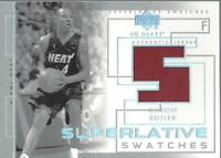 2003-04 UD Glass Superlative Swatches #SSCB Caron Butler Jersey- NM-MT