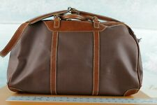 Mulholland Brothers  COATED Canvas And Leather Duffel BAG BROWN LARGE MULHOLLAND