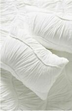 Anthropologie Ruched Wave Set of (2) King Pillow Shams