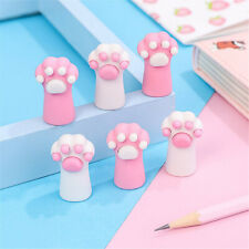 Supplies Correction Tools Pen Topper Eraser Cat Paw Erasers Pencil Cap Erasers
