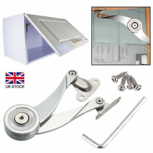 Door Lift Up Strut Lid Flap Stay System Support Hinge Kitchen Cupboard Cabinet