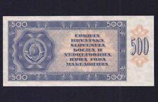 YUGOSLAVIA  500 DINARA 1950  P-67W  UNC  *** BACK PROOF ***NOT ISSUED  ***