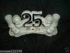 25th Anniversary Wedding Candle holder  centerpiece