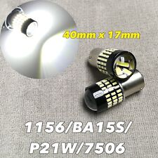 Rear Turn Signal light 1156 BA15S 7506 P21W 12821 SMD LED Bulb 6000K White W1 E