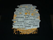 PITTSBURGH, PA PITTSBURGHESE BLACK SHORT SLEEVED T-SHIRT LARGE NEW