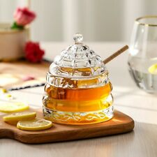 HONEY JAR WITH DIPPER AND LID (new product)