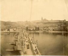 Hongrie, Prague, pont Charles Vintage albumen print Tirage albuminé  20x25