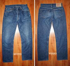 """JEANS LEVIS 501 """"Straight"""" W29/W30 L32 (FR t39- t40) bleu délavé"""