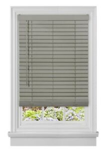 "NEW Achim Cordless Room Darkening 2"" Faux Wood Blinds - Grey"