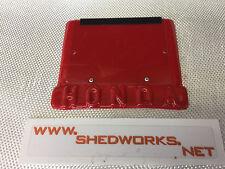 Honda trials number board, honda tlr twinshock trials RED