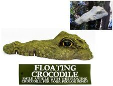 Floating Crocodile Alligator Head Realistic Ornament Pond Pool Dam scare ducks
