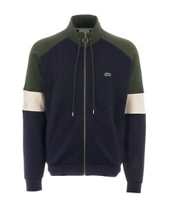 """Lacoste Tracksuit Sweater Full Zip BNWT Chest Size 50"""" to 52"""" Blue Green White"""