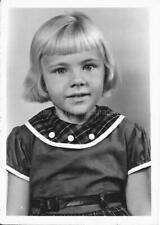LITTLE KID Found Photograph GIRL bw FREE SHIPPING Original Portrait VINTAGE 07 6