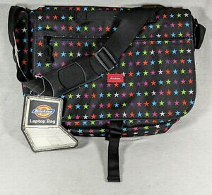 New Dickies Messenger Laptop Bag Multicolored Stars With Adjustable Shldr  Strap