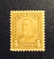 Stamps Canada Sc152 4c bistre KGV Scroll Issue of 1929, See description.