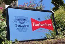 Budweiser Beer Bar Mirror Man Cave Pub New