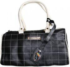 Cuero señora bolso de mano maletín de cuero bolso de mano bolsa transporte cuero genuino negro/blanco