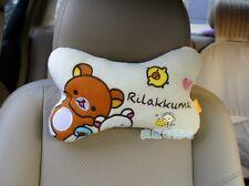 2pcs San-X Rilakkuma Relax Bear Car Seat HeadRest Cushion Neck relax bone pillow