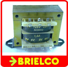 TRANSFORMADOR DE ALIMENTACION 220VAC A 6V+6V 1.5A 12V 0.8A CHASIS ABIERTO BD8288