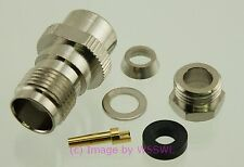 TNC Female Clamp Connector for RG-58 2-Pack - by W5SWL ®