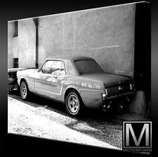 Ford Mustang Scheunenfund echte LEINWAND Bild Canvas ART Kunstdruck Leinwandbild