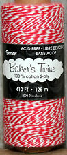 410 feet ~ 2 ply Baker's Twine ~  RED & WHITE ~ Gift Wrap Supply