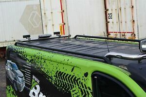 Roof Rails BLACK For Nissan NV300 2014+ SWB Van Top Stainless Steel Styling Bars
