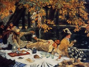 Holyday by James Tissot Painting - Top Quality Print On Canvas