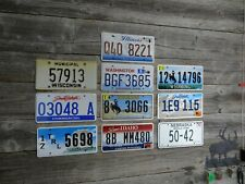 10 License Plates from different states Mixed lot of license plates bulk sale!