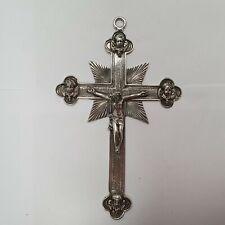 wunderschönes Wandkreuz Silber 800 punziert Hanau Handarbeit