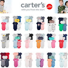 New Carter's Baby Bodysuit Boys Girls Size 3 6 9 12 18 24 Months Pack X 5 Pieces
