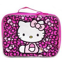 Hello Kitty Ribbons Lunch bag lunchbox black, New