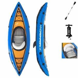 Canoe Kayak gonflable  1 place avec cockpit , 275x81x45 cm ,  pagaie + pompe