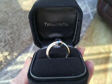 Tiffany and co 18ct white gold amethyst ring 8.4 grams