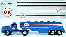 Scania OK Semi-remorque de ravitallement 1:43 Autocollant Décalcomanie