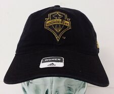 Adidas Seattle Sounders FC Black Color Gold Logo Women's Curved Hat