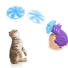 Pet Cat Fetch Tracks Toy Flying Propellers Disc Saucers Interactive Dog Chaser
