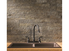 Self Adhesive 6 x 24-In Mossy Quartz Peel And Stick Tiles Stone Backsplash Grey