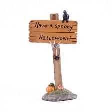 Halloween Fairy Garden Miniature - Have a Spooky Halloween Sign - Dollhouse