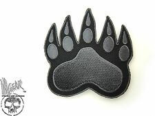 ill Gear v3 Black-Gray Tracker Bear Paw HOOK & LOOP patch Ranger  Tactical