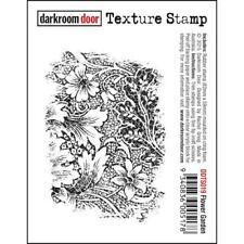 Darkroom Door Texture Cling Rubber Stamp - DDTS019 Flower Garden