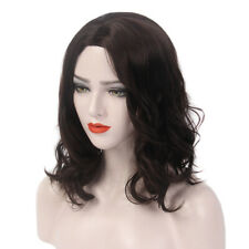 Medium Wave Curly Wig for Women Cosplay Synthetic Hair Daily Party Blonde Brown