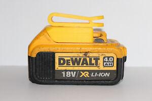 Yellow belt battery holder for DeWALT XR 18v