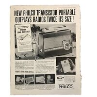 1958 Philco Radio Ad Transistor The Saturday Evening Post Magazine Vintage Rare