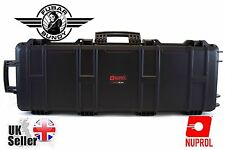 Nuprol Large Rifle Hard Case - Black - Airsoft/Shotgun Case Wave Foam