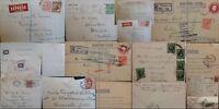 GB KG V 1910-1936 Postal History Registered Airmail Embossed Postcard Multi