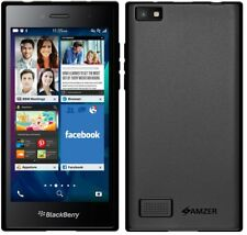 Amzer Pudding TPU Cover Case for Blackberry Leap - Black