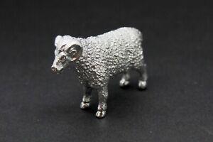 English Made Sterling Silver Ram Animal Model Figure full UK Hallmarks