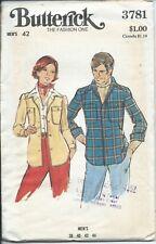 B 3781 sewing pattern 70's men's SHIRTJACKET Shirt Jacket sew COOL size 42 UNCUT